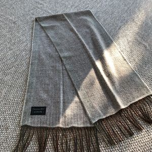 Christian Dior Cashmaire box striped scarf
